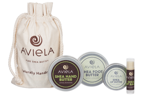 Winter Collection Shea Butter Body Care Gift Set - Aviela Skincare UK