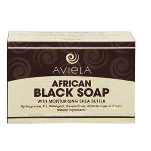 African Black Soap + Shea Butter, Palm & Coconut Oils - Aviela Skincare UK