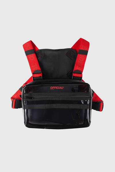 Translucent Chest Utility - Black / Red