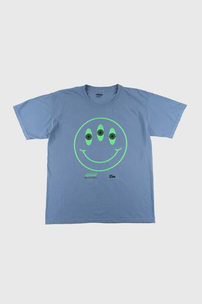 Smile You're on Camera T-Shirt (Denim Blue)