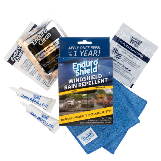 BEST VALUE - EnduroShield Windshield Rain Repellent Kit (Double Pack)