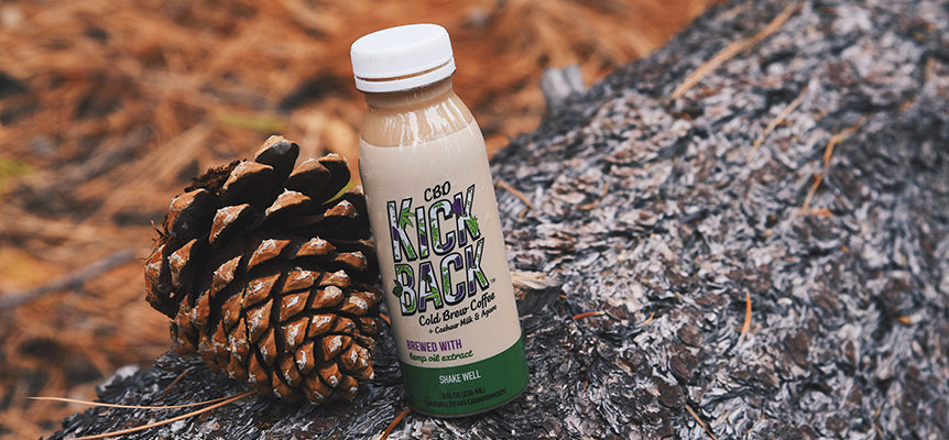 Kickback Cold Brew Coffee infused with CBD