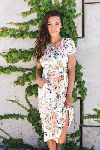 Self Knot Floral Dress