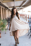 Tan High-Low Tunic-Dress