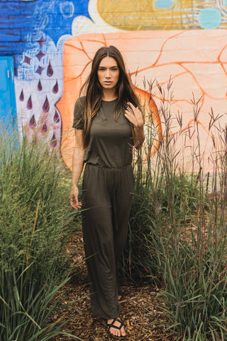 Army Green Classic Jumpsuit