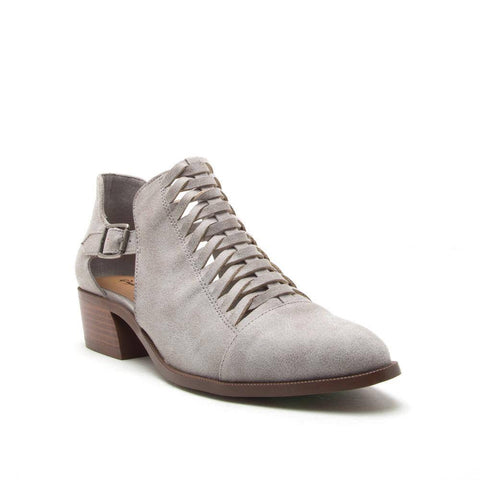 Cutout grey bootie