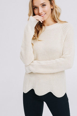Scallop sweater