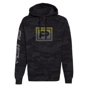 Sliced Hoodie | Black Camo , Gold