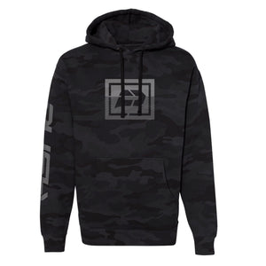 Sliced Hoodie | Black Camo , Grey