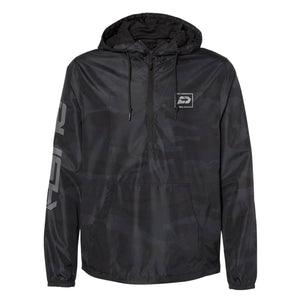 Reflective Sliced Windbreaker | Black Camo