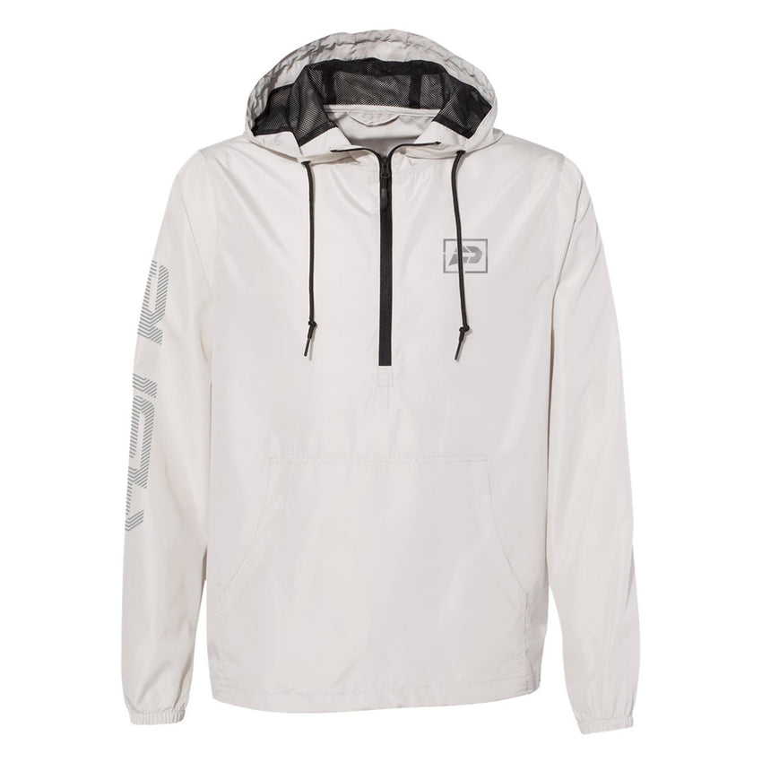 Reflective Sliced Windbreaker | Bone White