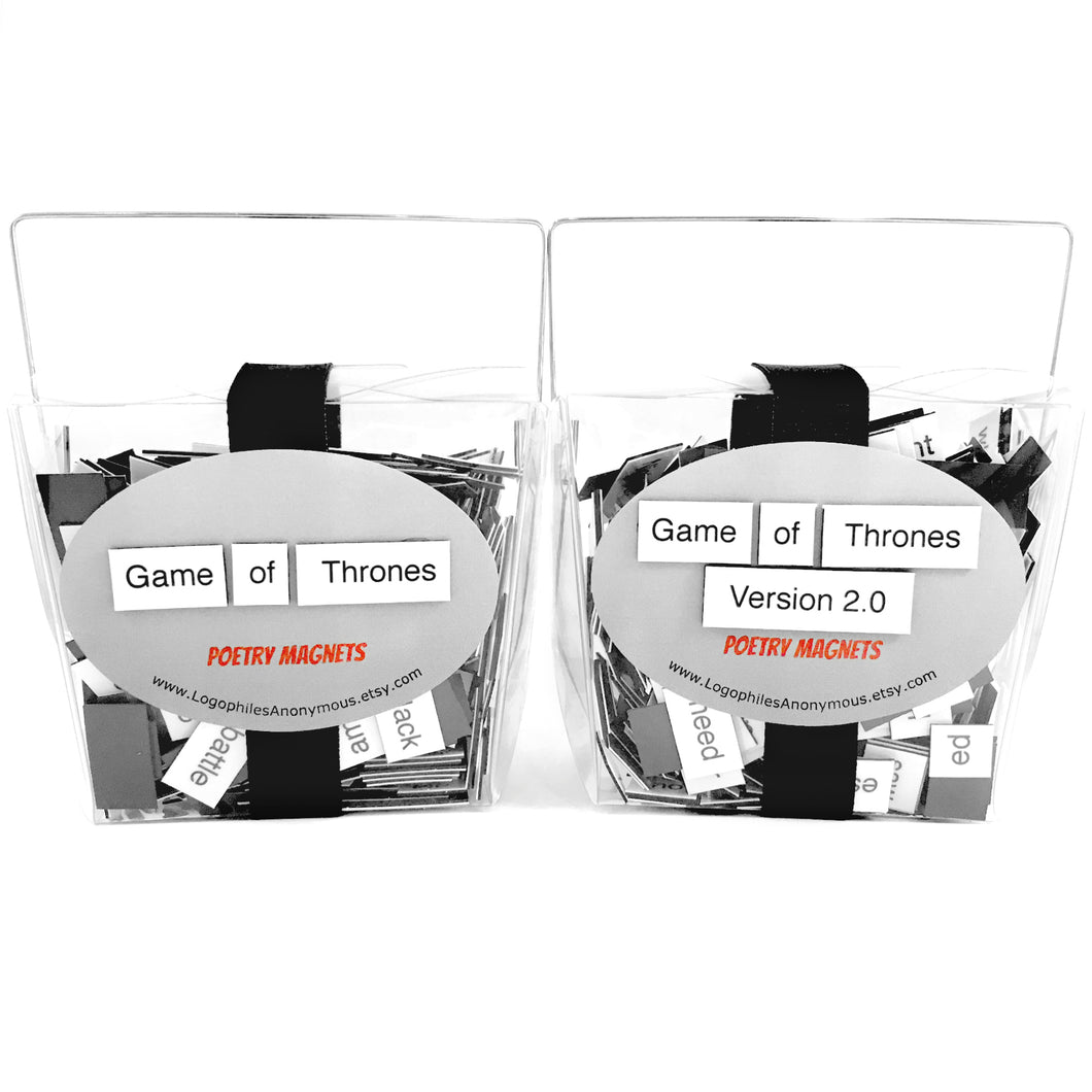 Game of Thrones Magnetic Poetry Two Pack