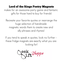 Lord of the Rings Poetry Magnets