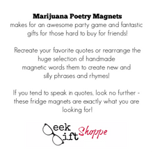 Marijuana Poetry Magnets