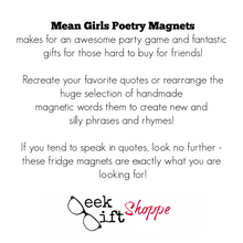 Mean Girls Poetry Magnets
