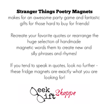Stranger Things Poetry Magnets