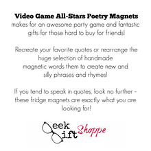 Video Game All-Stars Poetry Magnets