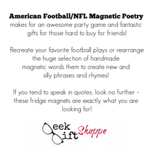 NFL Poetry Magnets