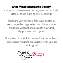 Star Wars Poetry Magnets