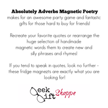 Absolutely Adverbs Poetry Magnets