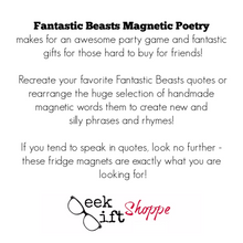 Fantastic Beasts Poetry Magnets