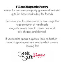 Fillers Magnetic Poetry