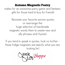 Autumn Poetry Magnets