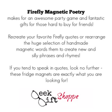 Firefly Poetry Magnets
