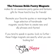 The Princess Bride Poetry Magnets