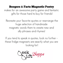 Boogers and Farts Poetry Magnets