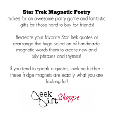 Star Trek Poetry Magnets
