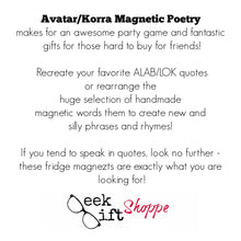 Avatar/Korra Two Pack Poetry Magnet