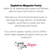 Expletives Poetry Magnets
