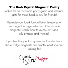 The Dark Crystal Poetry Magnets
