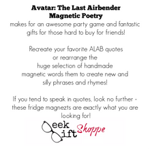 Avatar: The Last Airbender Poetry Magnets