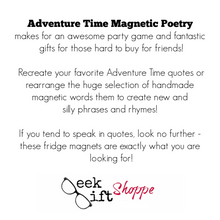 Adventure Time Magnetic Poetry