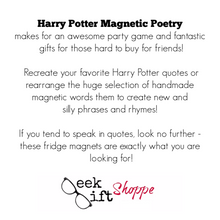 Harry Potter Magnetic Poetry