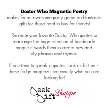 Doctor Who Poetry Magnets