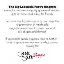 The Big Lebowski Poetry Magnets