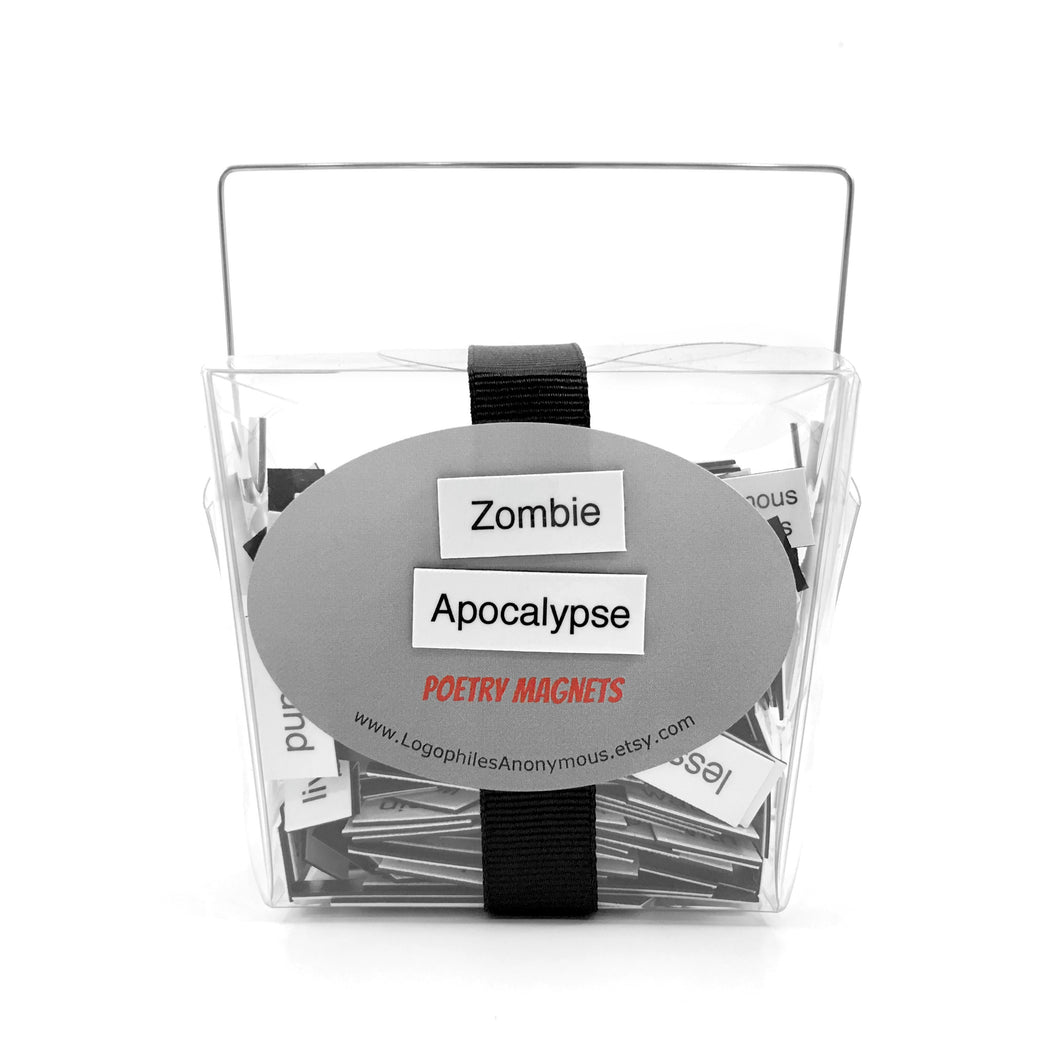 Zombie Apocalypse Poetry Magnets