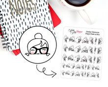 Geeky Gwennie Plays Peek-a-Boo Planner Sticker / G003