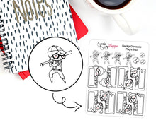 Geeky Gwennie Plays Ball Planner Stickers / G012