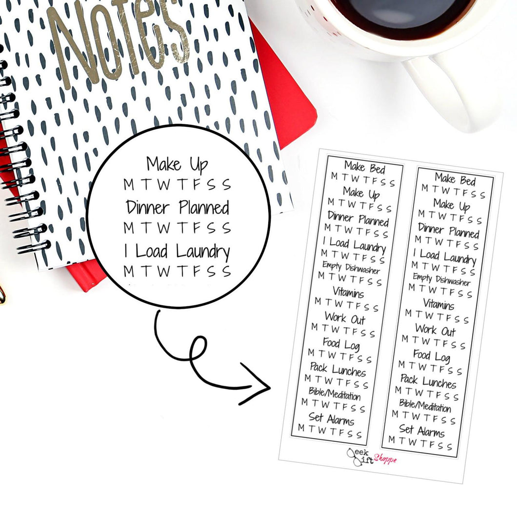 Personalized Sidebar Checklist Planner Sticker