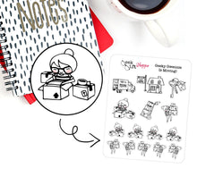 Geeky Gwennie Is Moving Planner Sticker / G010