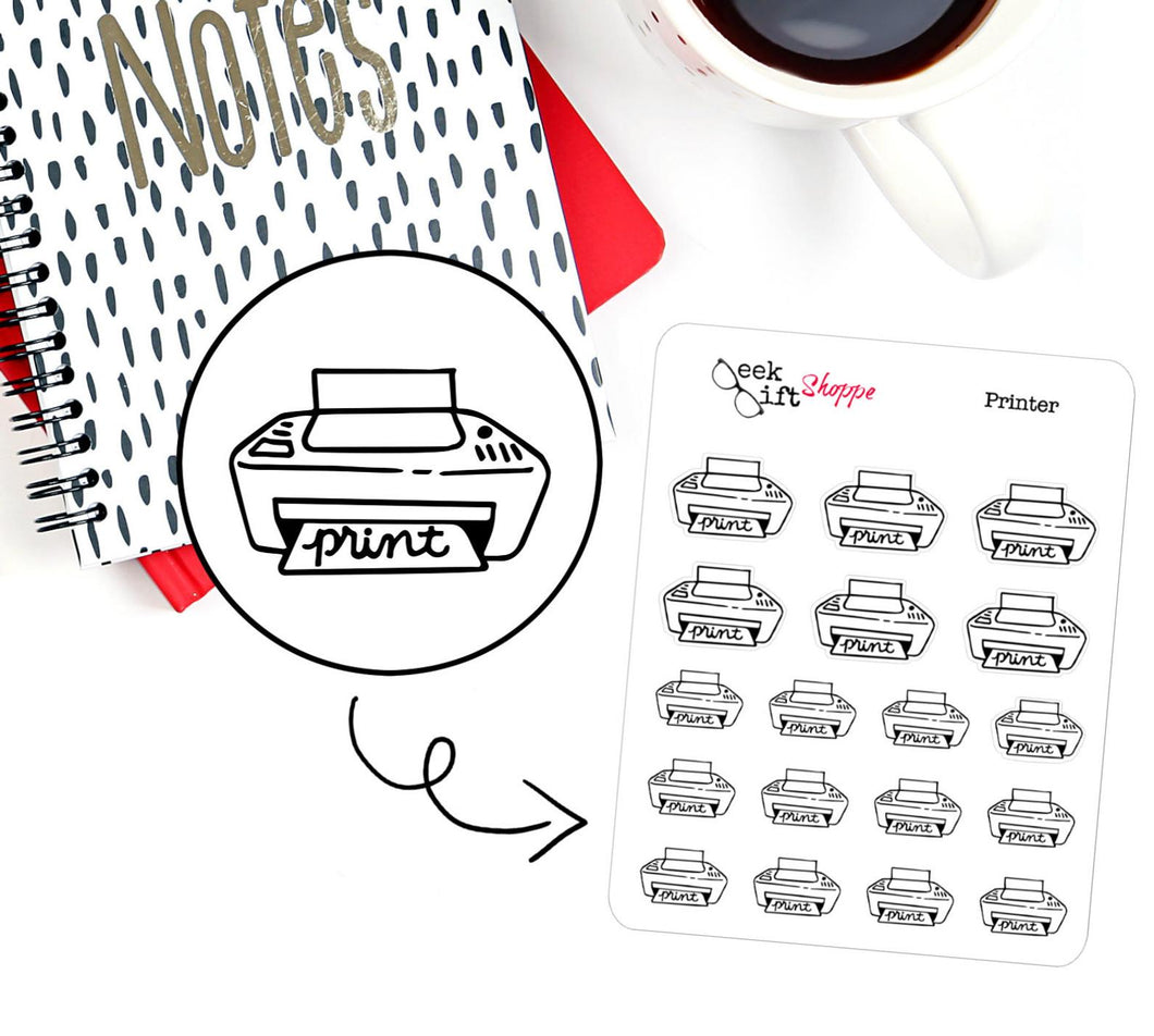 Printer Planner Sticker / F002