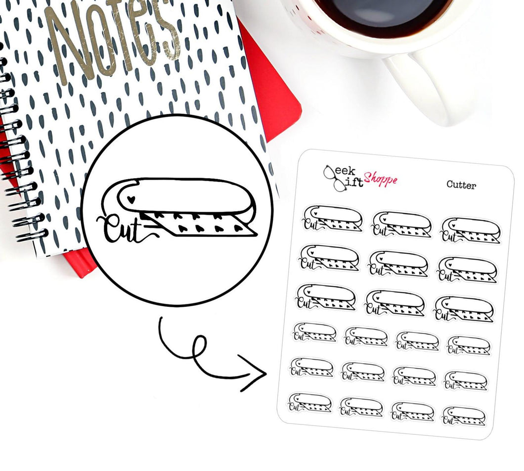 Cutter Planner Sticker / F003