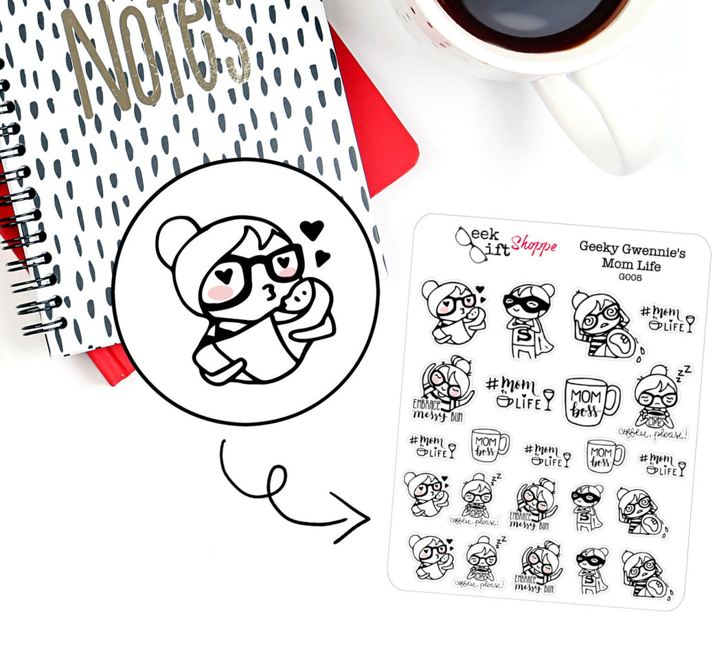 Geeky Gwennie Mom Life Planner Sticker / G005