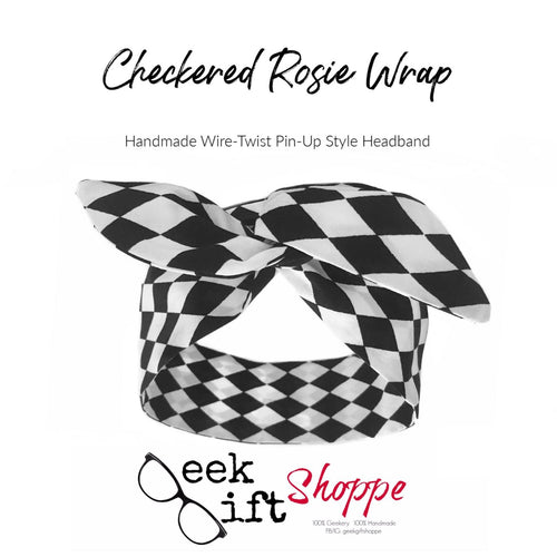 Black and White Checkered Rosie Wrap