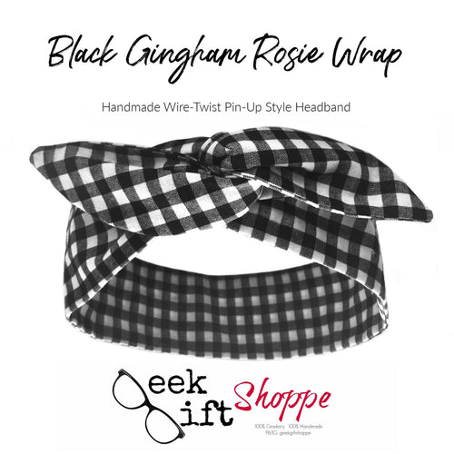 Black Gingham Rosie Wrap