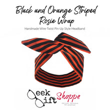 Black and Orange Striped Rosie Wrap